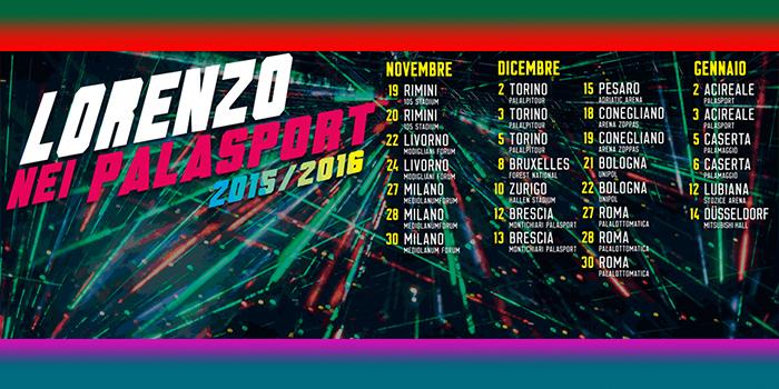 Lorenzo Jovanotti Cherubini - Palazzetti 2015-2016