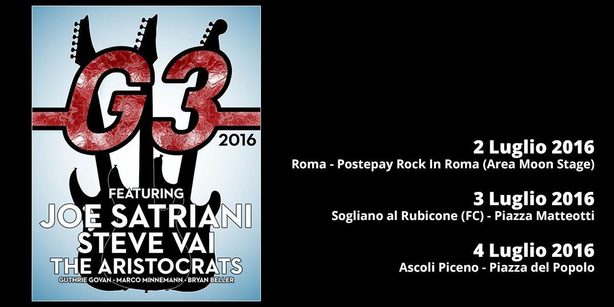 G3 - Joe Satriani - Steve Vai - The Aristocrats - Tour 2016