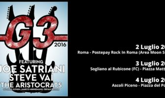 G3 - Joe Satriani - Steve Vai - The Aristocrats - Tour 2016