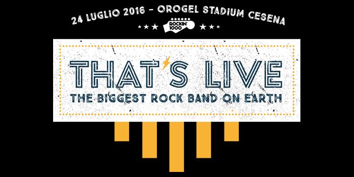 Rockin1000 - Thats Live - Cesena