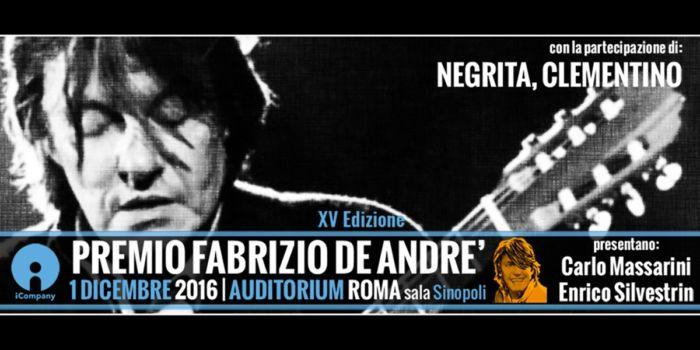 Premio Fabrizio De Andre 2016