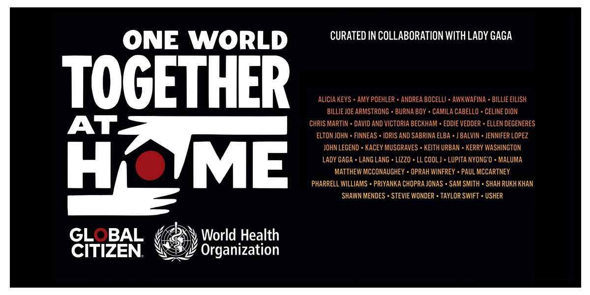 """One World Together At Home"", l'evento-concerto di Lady Gaga per raccogliere fondi in favore dell'OMS"